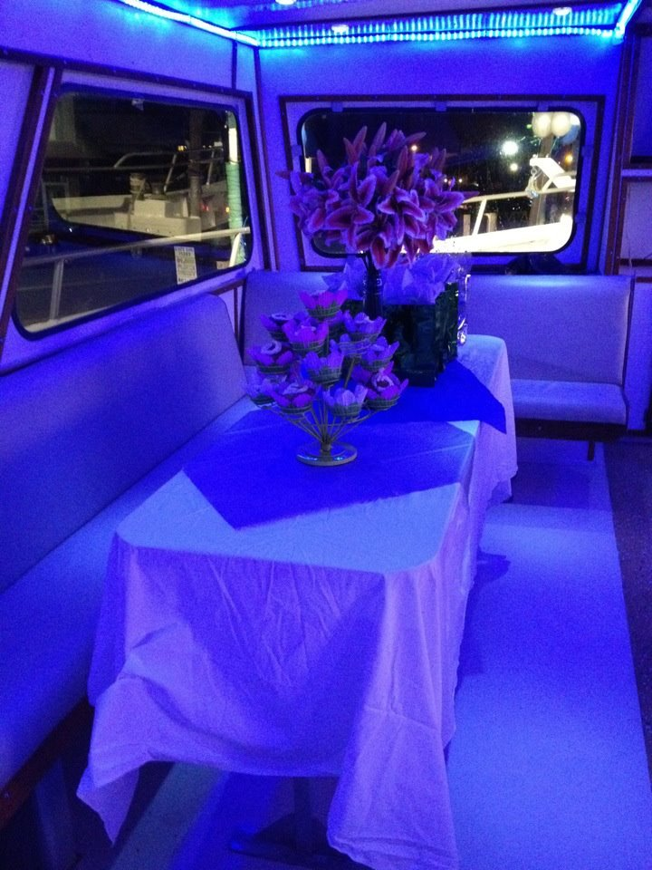 Starstream decorated for a party